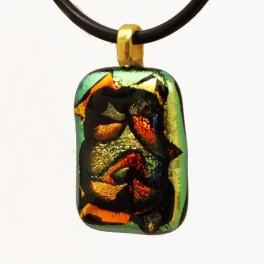 80301. Halssmykke. 25 x 18 mm.Gyldne og brændte farver med flot dybdeeffekt