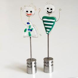 00801. Kærestepar. 13 cm. VFF-fans